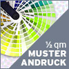 Muster-Andruck auf original Material inkl. Versand (max. DIN-A2)